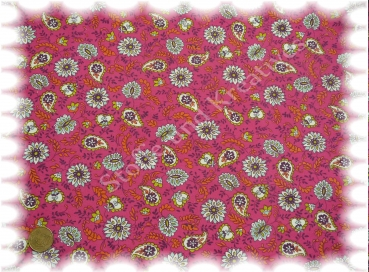 Lilith  Sweatshirtstoff Paisley pink (himbeere) Stoffrest_59 cm