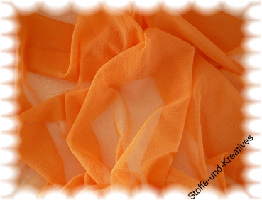"Fabric ""transparent"" orange   rest 45 cm"