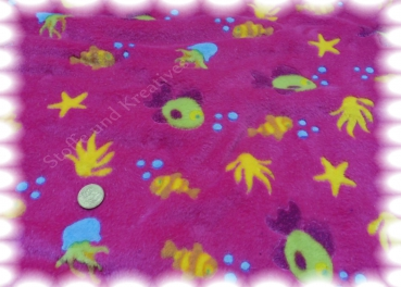 Fleece Seestern und Co Wellnessfleece fuchsia Plush 50 cm