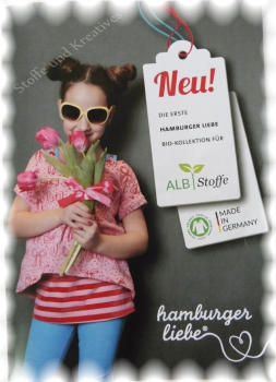 Bow-Parade pink red Bio-Jersey Hamburger Liebe