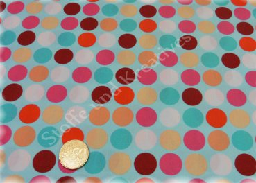 Happy Polka dots Stretch-Jersey turquoise by Hamburger Liebe