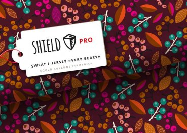 Shield Pro, Protect me Jersey, Albstoffe Design Hamburger Liebe Very Berry bordeaux (braun)
