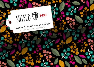 Shield Pro Jersey Protect me Albstoffe Hamburger Liebe Design Very Berry black 25 cm