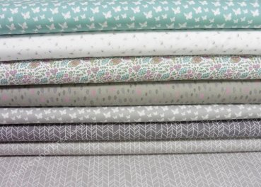 cotton poplin grey green