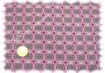 Abby Love cotton poplin flowers pink Hilco