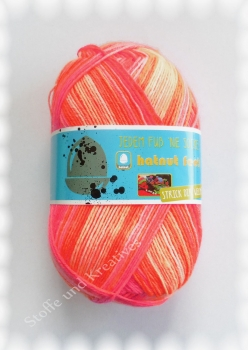 Hatnut Feet 4fach Sockenwolle orange pink 100 g Fb 101
