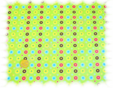 Circles cotton print green 50 cm