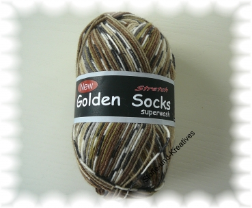 Golden Socks Trend  Stretch braun