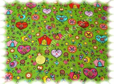 Marie Popeline lila Baumwolle Webware Stenzo Blumen und Ornamente 50 cm