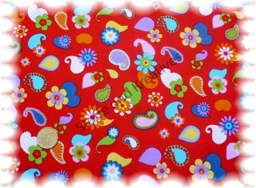 Paisley kids red