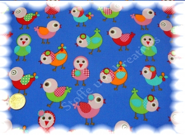 Sweet Birds cotton print birds blue 50 cm Stenzo