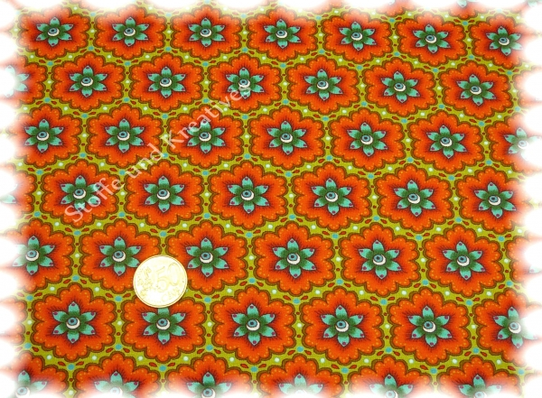 Evlana Elastic-Jersey print green orange 50 cm