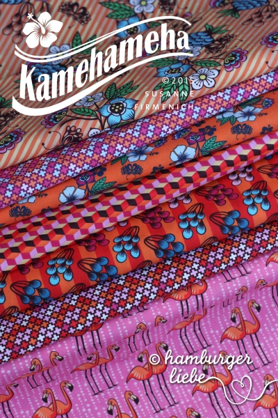 Kamehameha Criss Cross Stretch-Jersey brown 50 cm Hamburger Liebe