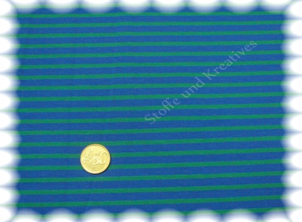 Campan  knit fabric blue (royal) green 50 cm