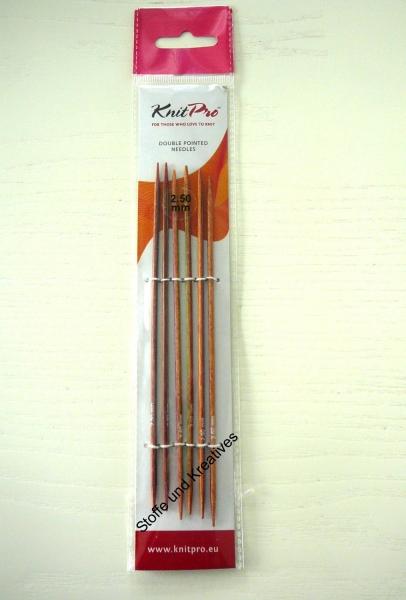 Knit Pro Symfonie Stricknadeln 2,5 mm 15 cm Holz Nadelspiel ...