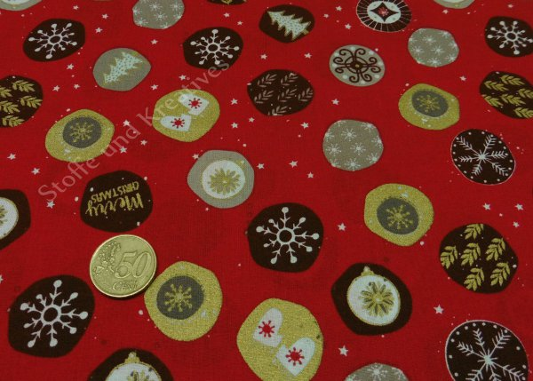 Modern Christmas red christmas fabric