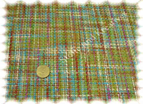 Chana green fabric for jackets, skirt 50 cm