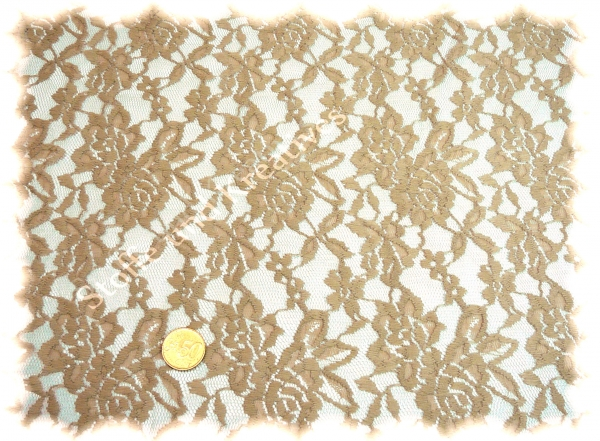 Lace Elastic-Lace brown (white coffee) 50 cm