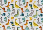 Kim Dinos cotton woven fabric white by Swafing